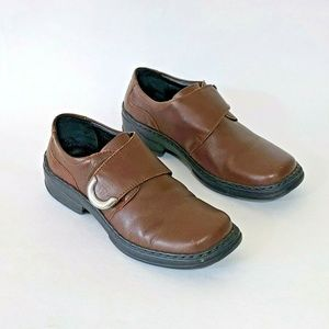 Josef Seibel Womens Brown Leather Monk Strap Shoes